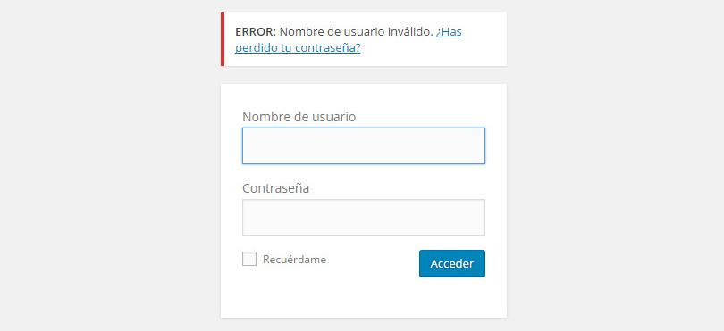 deshabilitar las sugerencias del login en wordpress img1 - iborra web design