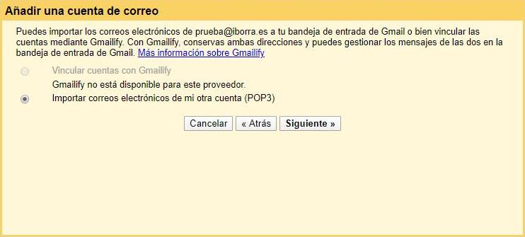 configura gmail con una cuenta de correo de tu dominio img3 - iborra web design