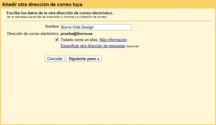 configura gmail con una cuenta de correo de tu dominio img6 - iborra web design