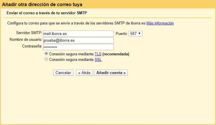 configura gmail con una cuenta de correo de tu dominio img7 - iborra web design