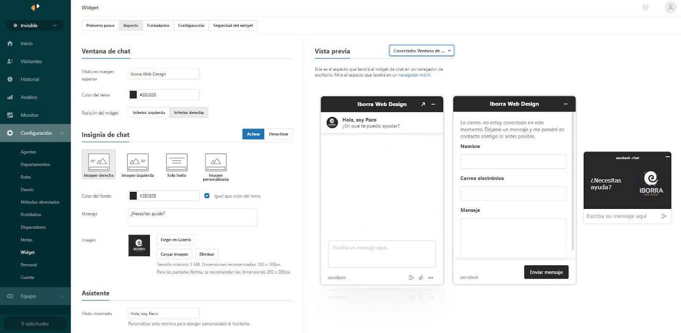 insertar zendesk chat en tu sitio web img2 - iborra web design